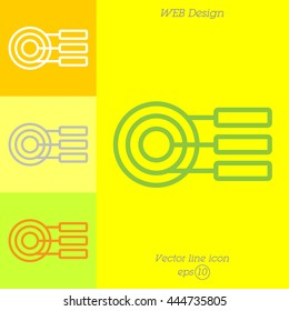 Web line icon. round diagrams, business  graph