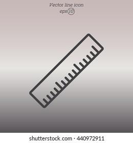 Web line icon. Ruler