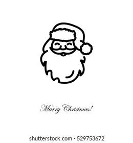 Web line icon. Santa Claus