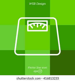 Web line icon. Scales.