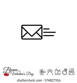 Web line icon. Sending a message