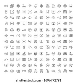 Web line icon set. Collection of high quality black outline logo for mobile concepts and web apps. Web set in trendy flat style. Vector illustration on a white background