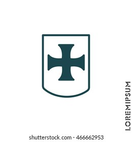 Web line icon. Shield.