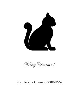 Web line icon. Silhouette of cats; cat