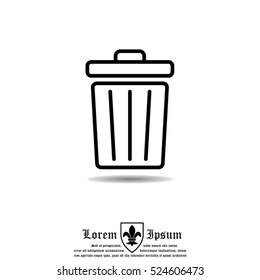 Web line icon. Trash can