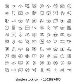 Web line icon. Vector symbol in trendy flat style on white background. Internet sings for design.