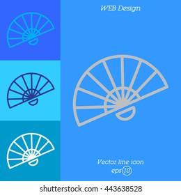 Web line icon. Veer, fan