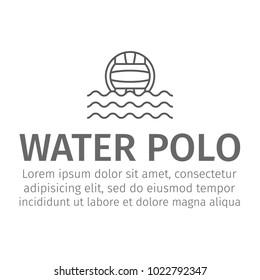 Web line icon. Water polo