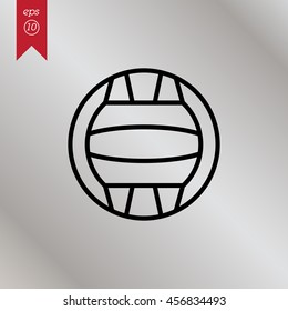 Web line icon. Water polo