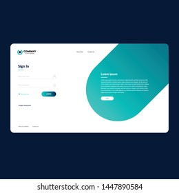 Web login form design template