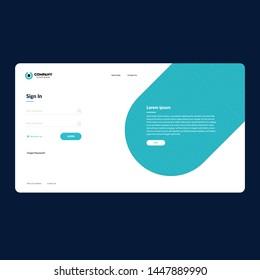 Web login form template design