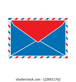 web mail message isolated vector - postal message illustration sign . correspondence buttons sign symbol