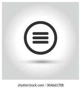 web menu icon. concept web buttons. vector illustration. Flat design style
