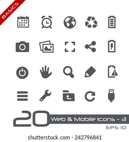 Web & Mobile Icons - 3 // Basics