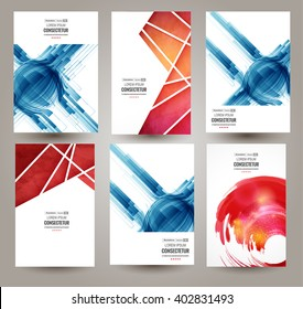 Web and mobile interface template. Abstract vector brochure, Web sites, page, leaflet, logo and text separately