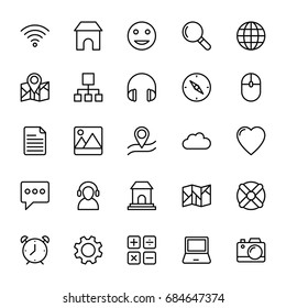 Web and Mobile UI Line Vector Icons 5