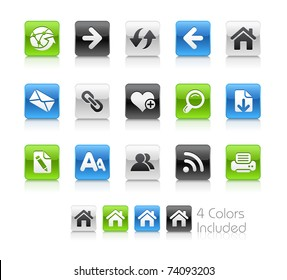 Web Navigation Icons // Clean Series -------It includes 4 color versions for each icon in different layers ---------