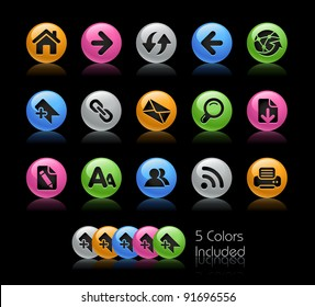 Web Navigation Vector Icons  / The file Includes 5 color versions in different layers.