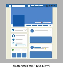 Web page browser. The interface of the global social network. Web button, ui, logo. Vector illustration. EPS 10.