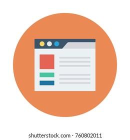 web page circle flat