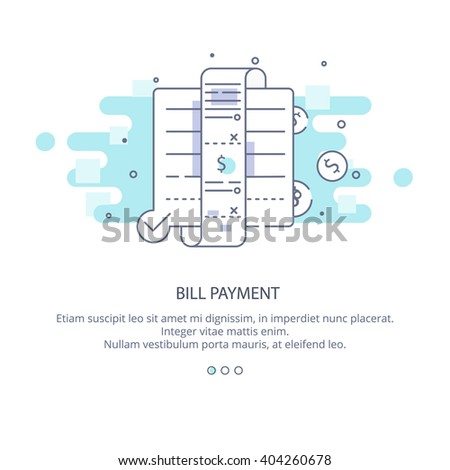 web page design template bill payment stock vector royalty free