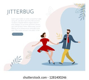 Web page design template for Jitterbug. Modern vector illustration concepts for website and mobile website development. - Vector graphics