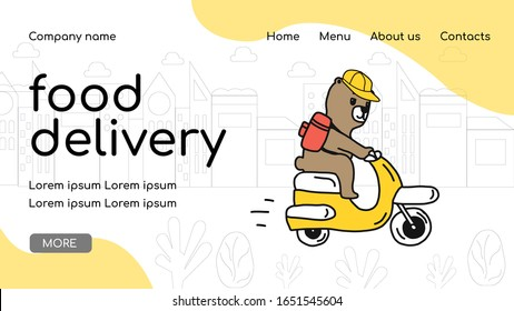 web page design template for organic food, beverage, restaurant and online order delivery services.Vector illustration with a cute character.concept for developing websites and mobile websites, apps. - Shutterstock ID 1651545604