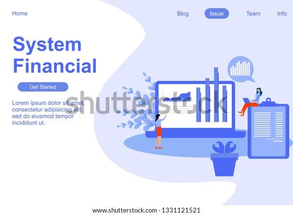 Web Page Design Templates Analytics Analysis Stock Vector