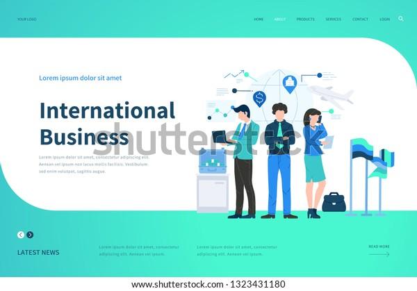Web Page Design Templates International Business Stock
