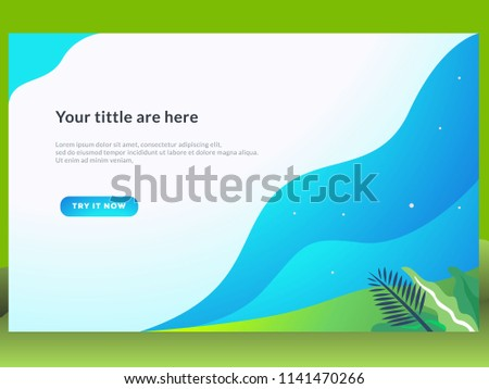 Web Page Design Templates Project Summer Stock Vector Royalty Free