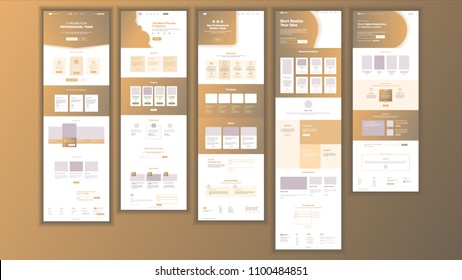 Web Page Design Vector. Website Business Screen. Internet Traffic. Landing Template. Corporate Dividend. Money Planning. Mining Money. Illustration