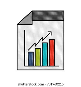 web page financial graph arrow growth document