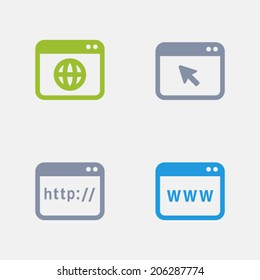 Web Page  Icons. Granite Series. Simple glyph style icons in 4 versions. The icons are designed at 32x32 pixels.