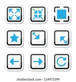 Web page screen size icons set