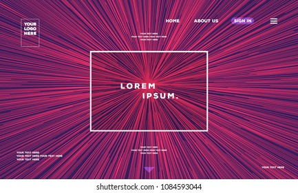 Web page. Speed backgound modern gradient line style. Space wallpaper for graphic, cosmos, data flow. Sunburst backdrop. Circular line colorful motion pattern. 10 eps