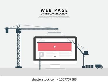 Webseite unter Vektorgrafik-Vektorgrafik-Build