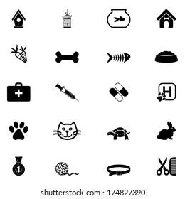 Web  pets icon set