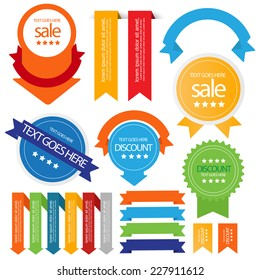 web sale badges seals banners. vector