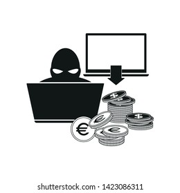 Web scammer icon. Simple vector illustration.