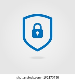 Web security icon shield.