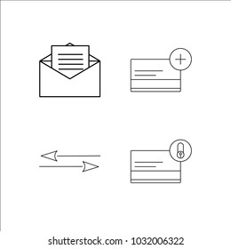 Web simple linear icon set.Simple outline icons