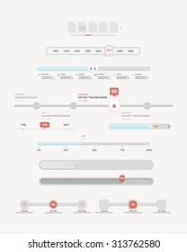 Web site design navigation elements: Flat Ui Sliders