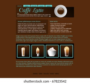 web site design template, coffee house theme