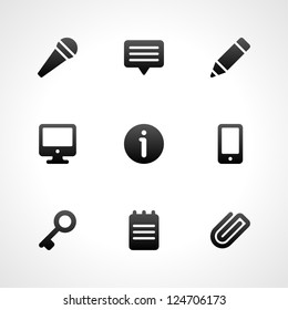 Web site icons set for landing page, infographics design, social media application and promotion banners vector illustration