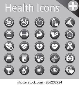 Web Site and Internet Icons Black medicine fitness health