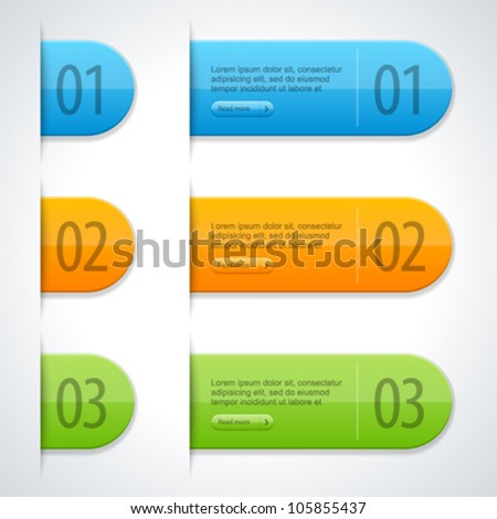 Web Site Labels Sticker Templates Vector Stock Vector (Royalty Free ...