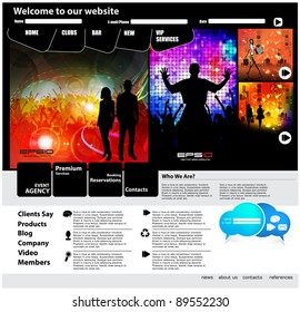 Web Site Page Template