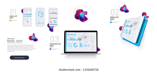 Web site template. Forex market. Binary option. Online statistics and data Analytics.Digital money market, news and  investment, finance and trading. Perfect for web design, banner and presentation.