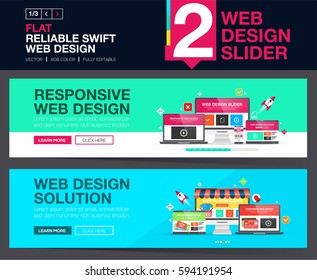 Web slider or banners design concepts for your Website