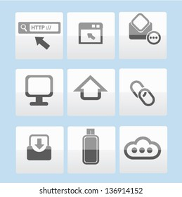 Universal Icons Set Vector Illustration Stock Vector (Royalty Free